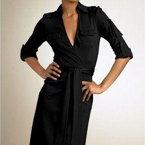 NEW Diane Von Furstenberg Military Wool Wrap Dress